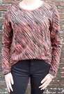 Shirt-Dames-Zebra-Roest