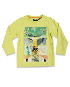 Blue Seven Shirt Jongens Lime